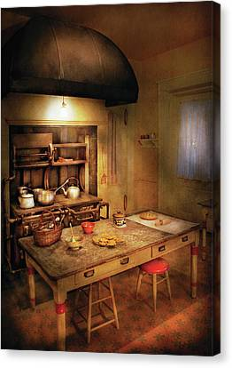 Kitchen - Granny's Stove Canvas Print by Mike Savad