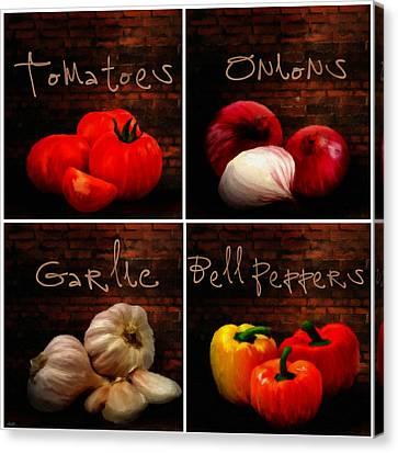 Kitchen Ingredients Collage II Canvas Print