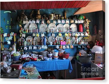 Kitchen Las Conchitas Mexico Canvas Print by Linda Queally