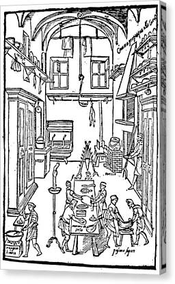 Kitchen Scene, 1605 Canvas Print by Granger