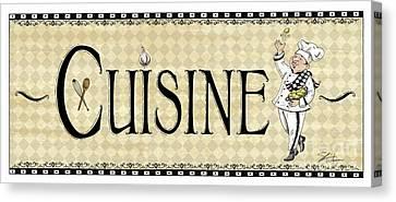 Kitchen Sign-cuisine Canvas Print
