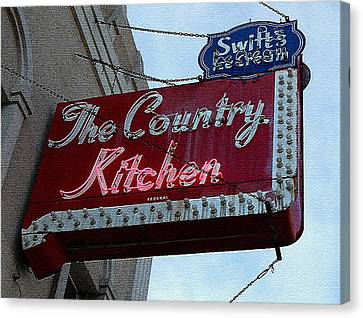 Kitchen Sign Canvas Print by Marvin Blaine