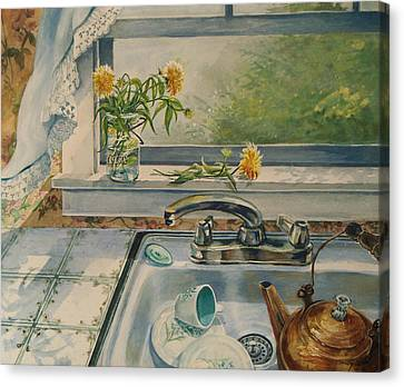 Kitchen Sink Canvas Print by Joy Nichols