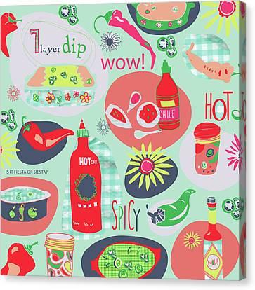 Kitchen Spice Canvas Print by Pamela J. Wingard