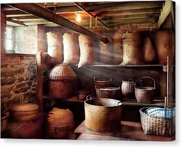 Kitchen - Storage - The Grain Cellar  Canvas Print by Mike Savad