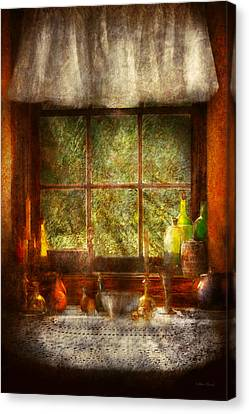 Kitchen - Table Setting Canvas Print by Mike Savad