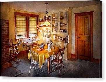 Kitchen - Typical Farm Kitchen  Canvas Print by Mike Savad