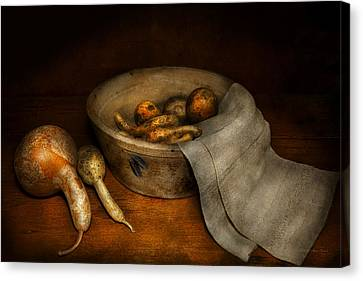 Kitchen - Vegetable - A Still Life With Gourds Canvas Print