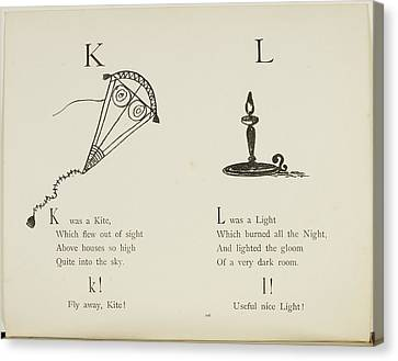 Kite And Light Canvas Print by British Library