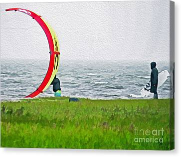 Kite Boarder Canvas Print by Dawn Gari