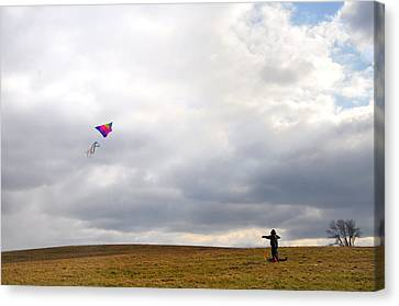 Kite Flying Canvas Print by Bill Cannon