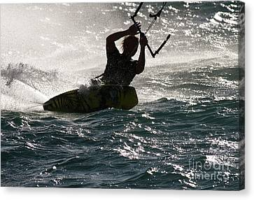 Kite Surfer 02 Canvas Print by Rick Piper Photography
