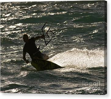 Kite Surfer 03 Canvas Print by Rick Piper Photography