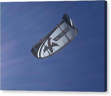 Kite Surfing 2 Canvas Print by Heather L Wright