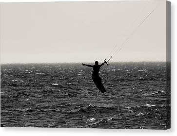Nike Canvas Print - Kite Surfing Pose by Dan Sproul
