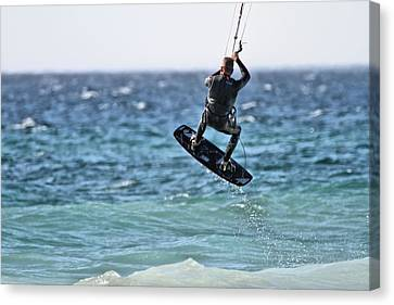 Nike Canvas Print - Kite Surfing Take Off by Dan Sproul