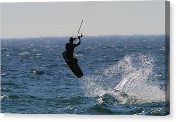 Nike Canvas Print - Kite Surfing Wakeboard by Dan Sproul