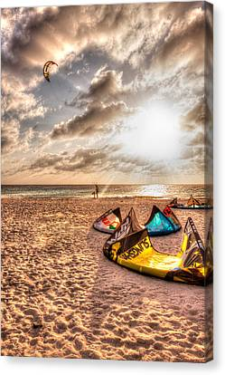 Kitebeach In Bonaire Canvas Print