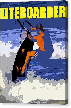 kITEBOARDER smart phone art Canvas Print by David Lee Thompson