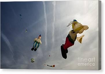 Kites On The Sky Canvas Print by Angel  Tarantella