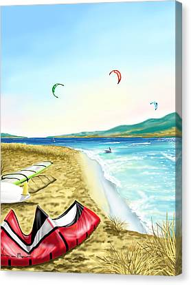 Kitesurf Canvas Print by Veronica Minozzi