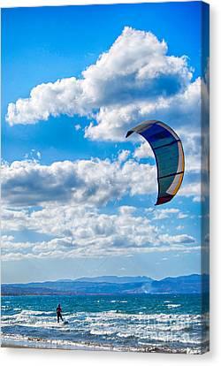 Kitesurfer Canvas Print by Antony McAulay
