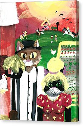 Kitty Farmer Canvas Print by Artists With Autism Inc