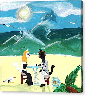 Kitty Twighlight Honeymoon Canvas Print by Artists With Autism Inc