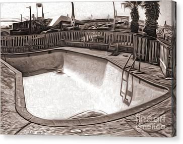 Kiva Motel -  Empty Pool Canvas Print by Gregory Dyer