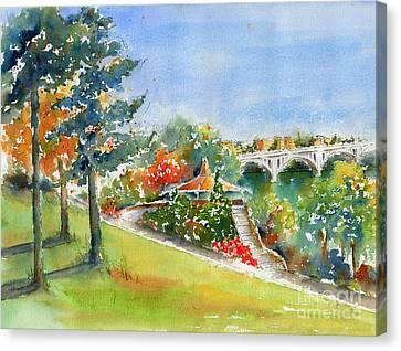 Kiwanis Park Lookout Canvas Print by Pat Katz