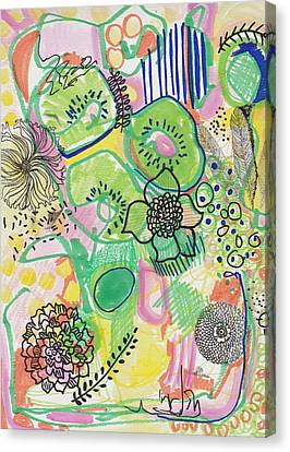 Kiwi Abstract Canvas Print
