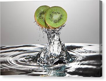 Kiwi Freshsplash Canvas Print by Steve Gadomski