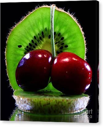 Kiwi Fruit Canvas Print by Dipali S