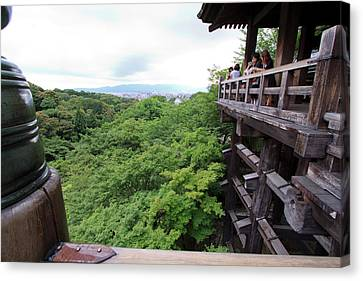 Kiyomizudera Temple Is One Of Kyoto's Canvas Print by Paul Dymond