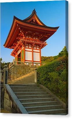 Kiyomizudera Temple Canvas Print by Sebastian Musial