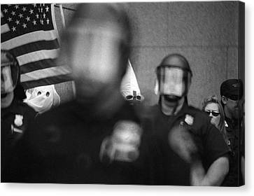 Kkk Rally In Cleveland Ohio August 21 1999-usa  Canvas Print