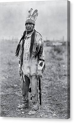 Old Man Canvas Print - Klamath Indian Man Circa 1923 by Aged Pixel