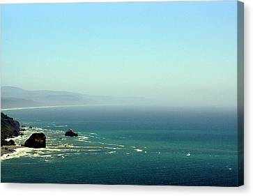 Canvas Print featuring the photograph Klamath River Outlet by Thomas Bomstad