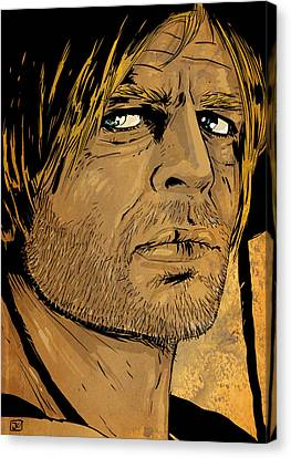 Klaus Kinski Canvas Print by Giuseppe Cristiano