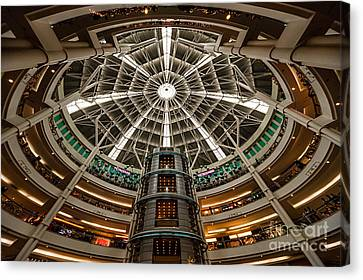 Centre Canvas Print - Klcc Mall by Adrian Evans
