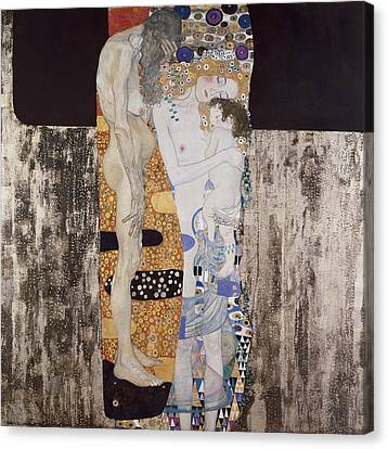 Klimt, Gustav 1862-1918. The Three Ages Canvas Print by Everett