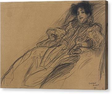 Klimt Young Woman, 1896 Canvas Print by Granger