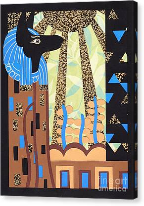 Klimt's Paper Anubis Canvas Print by Sarah Durbin
