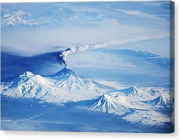Snow-covered Landscape Canvas Print - Kliuchevskoi Eruption by Nasa