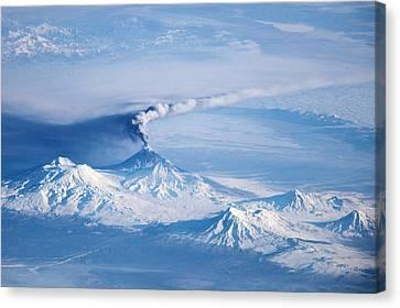 Klyuchevskoy Volcano Astronaut Photograph Canvas Print
