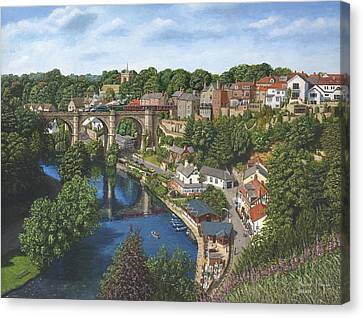 Knaresborough Yorkshire Canvas Print by Richard Harpum