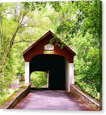 Knecht's Covered Bridge Canvas Print