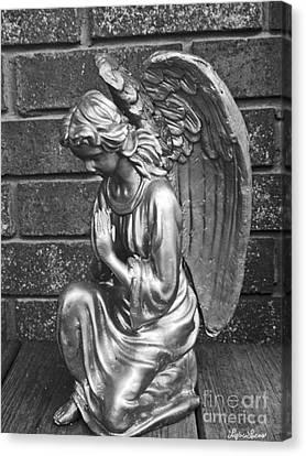 Kneeling Angel Canvas Print by Lyric Lucas
