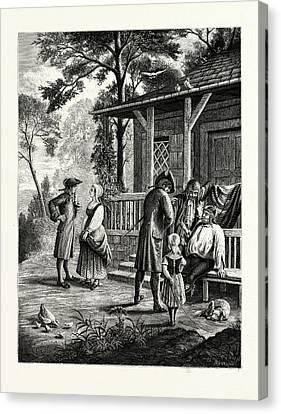 Knickerbocker Days Canvas Print by American School