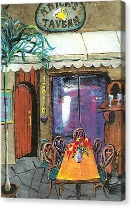 Knicks Tavern Canvas Print by Lyla Mitchell